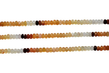 Mexican Fire Opal Polished 4x2.5mm Faceted Rondel