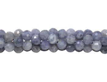 Iolite Polished 6mm Faceted Round - Light