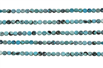 American Turquoise Polished 4mm Faceted Coin