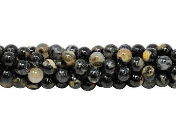 Black Tourmaline in Mica Grade A Polished 6mm Round