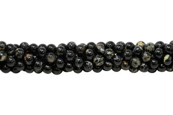 Black Tourmaline in Mica Grade A Polished 8mm Round