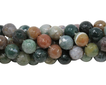 Fancy Jasper Polished 10mm Faceted Round - 2mm Large Hole