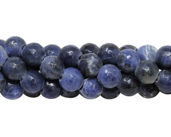 Sodalite Polished 8mm Faceted Round - 2mm Large Hole
