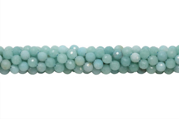 Amazonite Polished 6mm Faceted Round