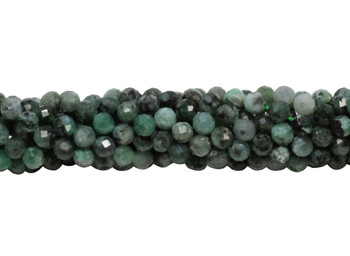 Emerald Polished 4mm Faceted Round