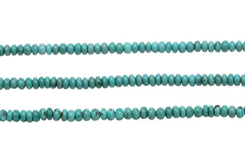 Chinese Turquoise Polished 5mm Rondel