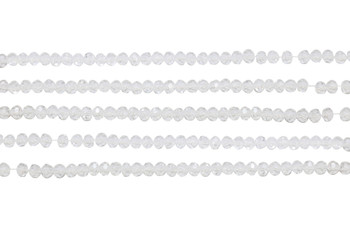 Glass Crystal Polished 4mm Faceted Rondel - Clear