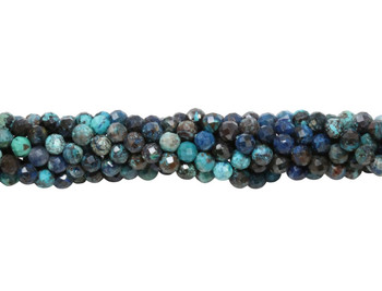 Blue Chrysocolla Polished 3.5mm Faceted Round