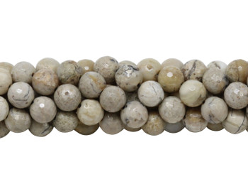 African Opal Polished 8mm Faceted Round