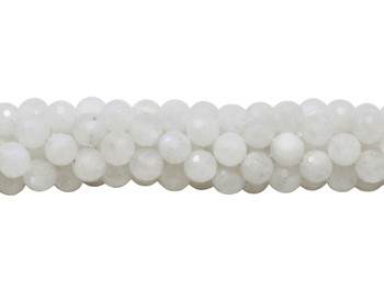 Rainbow Moonstone Polished 6mm Faceted Round