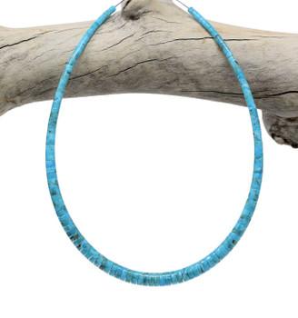 Kingman Turquoise Polished 3-8mm Graduated Heishi