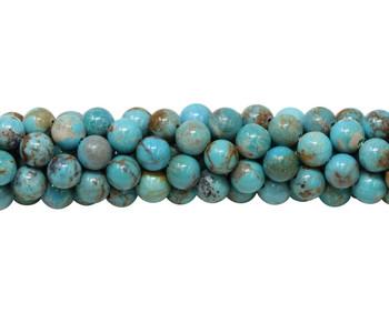 Kingman Turquoise Polished 6mm Round