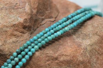 Kingman Turquoise Polished 2.5-3mm Round