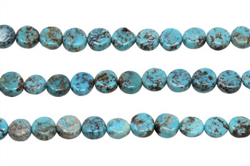 Kingman Turquoise Polished 8mm Coin
