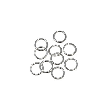 Sterling Silver 5mm Round 22 Gauge OPEN Jump Rings - 10 Pieces