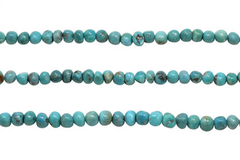 Chinese Turquoise Polished 6mm Round Nugget