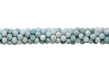 Larimar Polished 6mm Faceted Round