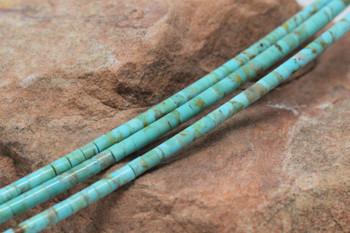 Kingman Turquoise Polished 3-3.5mm Heishi