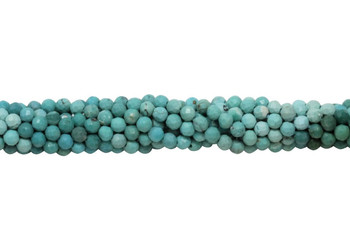 American Turquoise Polished 2.5mm Faceted Round - Multi Color Banded
