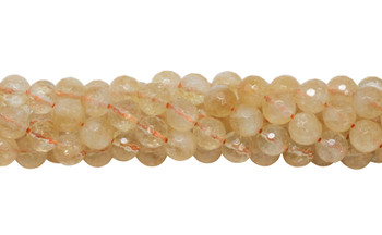 Citrine Natural Polished 8mm Faceted Round