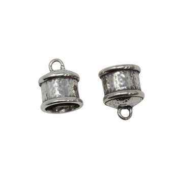 Sterling Silver 9mm ID End Caps - 1 Pair