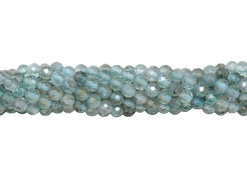 Light Apatite Polished 2.5mm Faceted Round