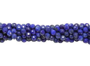 Lapis Polished 4mm Faceted Round