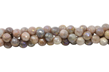Sunstone Polished 10mm Faceted Round - Coated