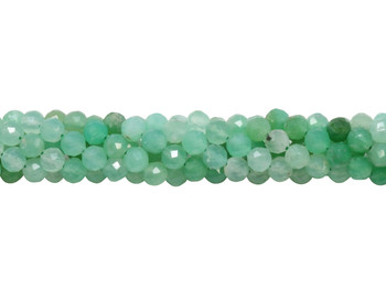 Chrysoprase Polished 4mm Faceted Round