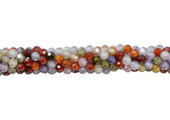 Multi Color Zircon Grade AA Polished 3mm Faceted Round