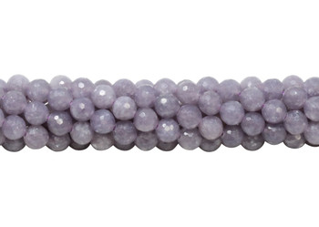 Lepidiolite Polished 6mm Faceted Round