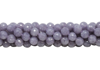 Lepidiolite Polished 8mm Faceted Round