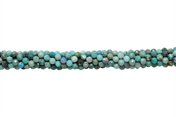 Light Blue Chrysocolla Polished 4mm Faceted Round