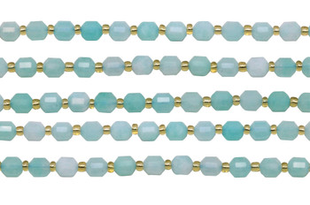 Amazonite Polished 6mm Prism Rondel