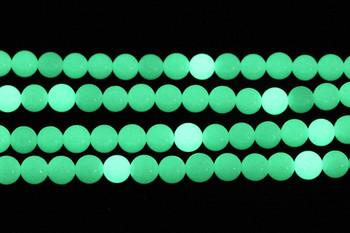 Green Aragonite Polished 10mm Round - Glow in the Dark