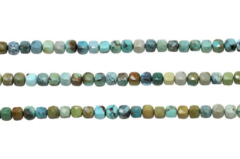 Hubei Turquoise Polished 5mm Faceted Cube