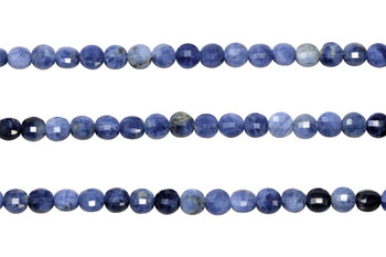 Sodalite Polished 5mm Faceted Coin