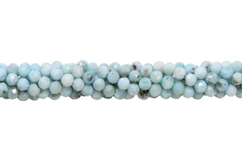 Larimar Polished 5mm Faceted Round