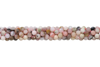 Pink Peruvian Opal Polished 4mm Faceted Round