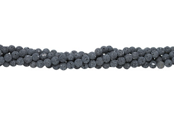Lava Rock Uncoated Natural 8mm Round
