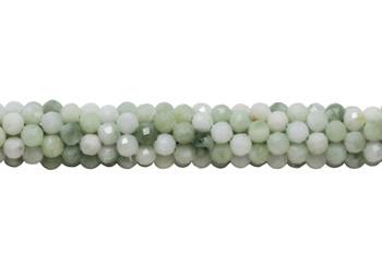 Burmese Jade Polished 4mm Faceted Round