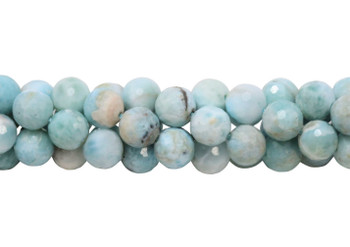 Larimar Polished 8.5mm Faceted Round