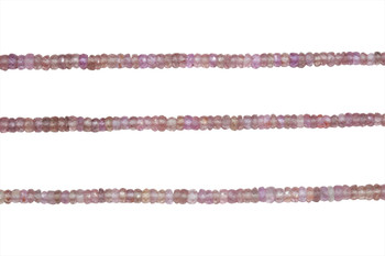 Pink Madagascar Sapphire Polished 2-4mm Faceted Rondel - Graduated