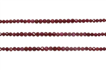 Ruby Polished 2-3mm Faceted Round - Graduated