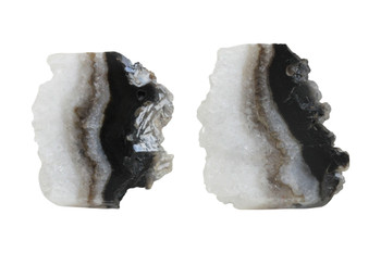 Banded Agate Druze Slice Top Drill