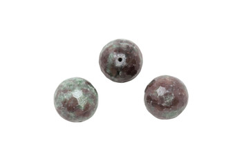 Ruby Zoisite Polished 16mm Faceted Round