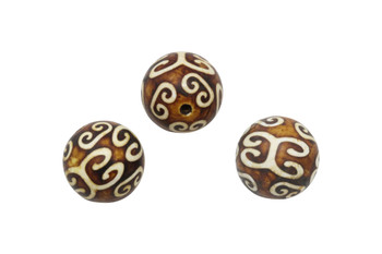 Tibetan Style Agate Polished 18mm Round