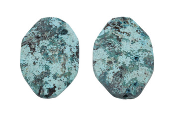 Imperial Turquoise Jasper Faceted Oval