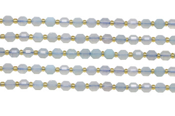 Chalcedony Polished 6mm Faceted Prism