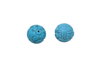 Howlite Polished 16mm Carved Round